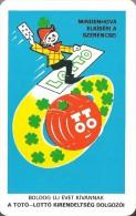 GAMBLING * LOTTERY * FOOTBALL POOL * FOUR LEAF CLOVER * CALENDAR * Kirendeltseg 1981 * Hungary - Calendari