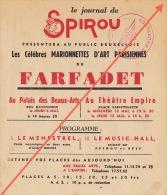 Rare Feuiilet Publicité SPIROU Présentation Marionnettes Du Farfadet En 1942 - 43 - Affiches & Offsets
