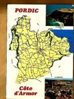 Jolie CP Géographique 22 Pordic Côte D'Armor (erreur = Côtes ?) Multivue  La Pointe Le Bourg - Ed CIM Combier - Autres Communes