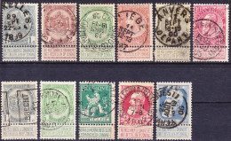 """2016-0128 Lot Belgique 1893-1912 Avec Annexe """"ne Pas Livrer Le Dimanche"""" Oblitéré O - 1893-1907 Wappen"""
