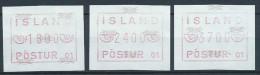 Islande 1983 Série De Timbres De Distributeurs Appareil 1 - Vignettes D'affranchissement (Frama)