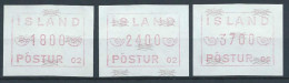 Islande 1988 Série De Timbres De Distributeurs Appareil 2 - Vignettes D'affranchissement (Frama)