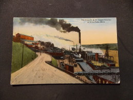 The Great B & M Copper Smelter At Great Falls Mont AMERIQUE, ETAT UNIS, MONTANA - Great Falls