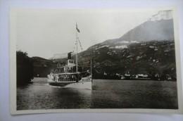 """CPA BATEAUX.""""La France"""". Lac D Annecy. Port De Duingt. - Paquebots"""