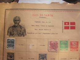 SOMOA - 2 TIMBRES SUR PLANCHE 1 PENNY COLLE +2 PENCE AVEC CHARNIERE VOIR PHOTOS - Samoa