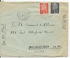 VATICAN - 1948 - ENVELOPPE AIRMAIL Pour PHILADELPHIA (USA) - Vatican