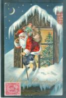 Relief - Gaufrée - Embossed - Prage - Père Noël  - BE - Santa Claus