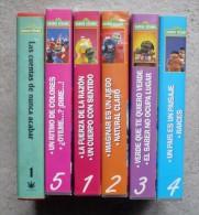LOT DE 6 CASSETTES VIDEO VHS -  CTW - BARRIO SESAMO  En Langue Espagnole - 5 De 55mn Et 1 De 30mn ( Voir Les 7 Scans ) - Enfants & Famille