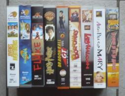 LOT DE 9 CASSETTES VIDEO VHS - FILMS AVENTURES  En Langue Espagnole - De 80 à 120 Mn ( Voir Les 10 Scans ) - Action, Aventure