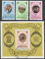 Turks & Caicos Islands. 1981 Royal Wedding. Used Complete Set & Miniature Sheet. SG 653 - MS 989 - Turks And Caicos