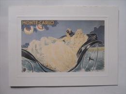 Carte De Voeux SBM Monte-Carlo Illustration Louis Icart - Mapas