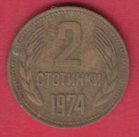 F6154 / - 2 Stotinki - 1974 - Bulgaria Bulgarie Bulgarien Bulgarije - Coins Monnaies Munzen - Bulgaria