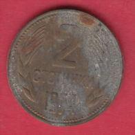 F6167 / - 2 Stotinki - 1974 - Bulgaria Bulgarie Bulgarien Bulgarije - Coins Monnaies Munzen - Bulgaria