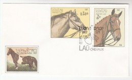 1987 LAOS FDC  Stamps HORSES Horse Cover - Laos