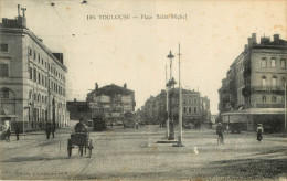 Dép 31 - Chemins De Fer - Tramways - Tramway - Toulouse - Place Saint Michel - 2 Scans - état - Toulouse