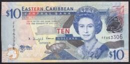 East Carribean 10 Dollar 2008 P48 UNC - Caraïbes Orientales