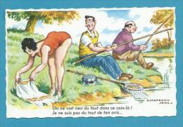 CPSM 1140 Fantaisie Humour Pin Up érotique Pêche Pêcheur Illustrateur Jean CHAPERON - Chaperon, Jean