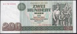 Germany Democratic Republic 200 Mark 1985 P32 UNC - [ 6] 1949-1990 : RDA - Rép. Dém. Allemande