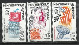 NEW HEBRIDES 1976 - 1st PHONE AND MODERN DESKPHONE - CPL. SET - MH LIGHTLY MINT HINGED - Leyenda Inglesa