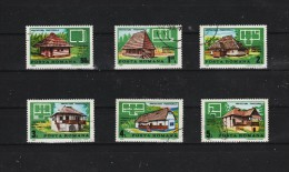 1989  - ARCHITECTURE TRADITIONNELLE  MI No 4524/4529 Et Yv No 3827/3832 - 1948-.... Repúblicas