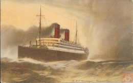 Angleterre - Carte Postale PAQUEBOT - CARMANIA - Posted At Sea 1930 - Boston - Paquebots