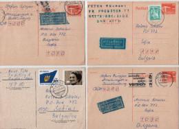 4 Postkarte Germany- DDR / BULGARIA ,Bulgarie 1986-travel - Postkarten - Gebraucht