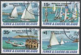 Turks & Caicos Islands. 1980 South Caicos Regatta. Used Complete Set (excluding M/S). SG 630-633 - Turks And Caicos