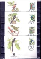 4 FDC Seychelles - Oiseaux - Série Complète (à Voir) - Non Classés
