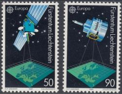 Liechtenstein 1991 EUROPA: European Space Satellites. 1011-1012 MNH - 1991