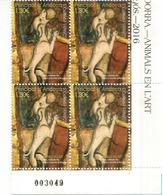 Animaux Dans L'Art. Le Chien De Saint Christophe D'Anyos, Un BLOC DE 4 Neufs **, Année 2016, Numéroté - Unused Stamps