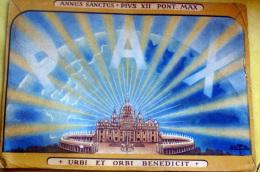 VATICANO 1950 - CARTOLINA CELEBRATIVA ANNO SANTO 1950 VIAGGIATA - Papes