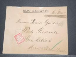 IRAQ - Env Taxée Par Avion Pour Marseille En Poste Restante - Voir Dos - Superbe - Oct 1928 - A Voir - (QUER) - P17107 - Iraq