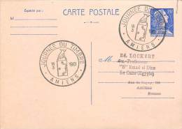 AMIENS : ENTIER POSTAL  AVEC CACHET JOURNEE DU TIMBRE 1961 - Entiers Postaux