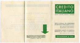 SCHEDA PRENOTAZIONE SOTTOSCRIZIONE TITOLI CREDITO ITALIANO ANNO 1940 BANCA - Azioni & Titoli