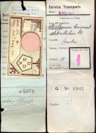 Vervoerbewijs - Service Transports - Tissus - Courtrai Kortrijk 1942 - Titres De Transport