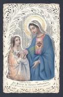 Belle Image Pieuse En Dentelle Aquarelée  N° 3051 éditeur Bouasse Lebel - Images Religieuses