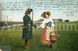 Postcard / CP / Postkaart / Couple / Homme / Femme / Serie 366 / 1905 - Couples