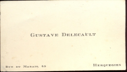 Visitekaartje Carte Visite - Gustave Delecault - Herquegies - Cartes De Visite