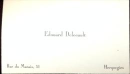 Visitekaartje Carte Visite - Edouard Delecault - Herquegies - Cartes De Visite