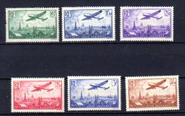 Avion Survolant Paris, A. 8 / 13 *, Cote 170 €, - 1927-1959 Nuevos