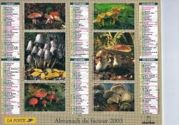 ALMANACH DU FACTEUR 2003 - BAIES SAUVAGES Et CHAMPIGNONS - Grand Format : 2001-...