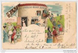 HUY ..-- Fantaisie !!  1903 Vers GRANVILLE , OREYE ( Melle Isabelle Germeau ) . Marcovici . Voir Verso . - Huy