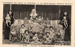 THAILANDE (SIAM) SAM-SEN PETITS ENFANTS ABANDONNES - Thaïlande