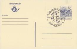 BELGIË/BELGIQUE:Illustr. Date Cancel On Post. St.: ## 18-11-89 : IZEGEM : Open Deur Dagen ##: POST,SCHOEN,CHAUSSURE,SHOE - Textile