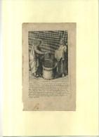 -SCENE DE BAPTÊME . EAU FORTE DU XVIIe S .  COLLEE SUR PAPIER . - Religion & Esotérisme