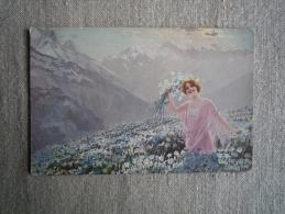 CPA Guerinoni Femme Montagne Champs De Marguerites 1915 S. 1005. Voir Photos. - Guerinoni