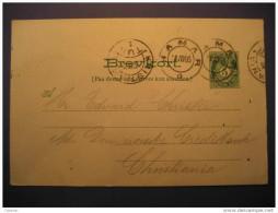 1905 HAMAR To CHRISTIANIA Postal Stationery - Ganzsachen