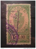 1 Kr 1926 Cancel Stempelmaerke Fiscal Official Tax Taxe Revenue Due Cinderella - Steuermarken