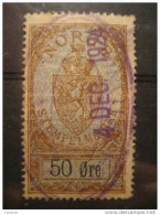 50 Ore 1924 Stempelmaerke Fiscal Official Tax Taxe Revenue Due - Steuermarken