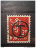 T Cancel Used As A Postage Due Stamp 20c Lyon Stamp - Port Dû (Taxe)